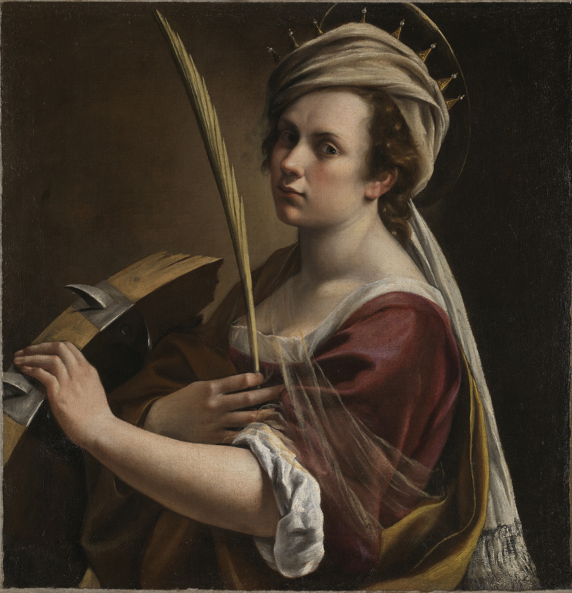 Self Portrait as Saint Catherine of Alexandria Artemisia Gentileschi about 1615-17 © The National Gallery, London